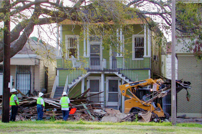 Debris removal from residential lot